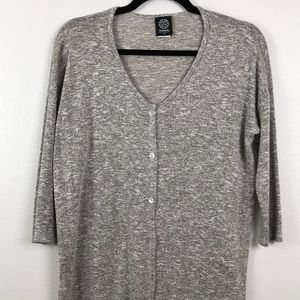 3/$20 Bobeau Button Down Long Tunic Cardigan
